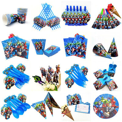 AVENGERS SUPER HERO Boys Birthday Party Tableware & Decorations Supplies