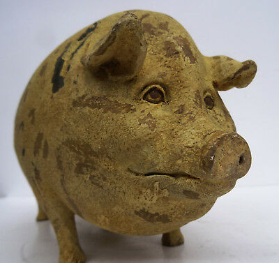 Antikes Schwein - Figur - dekorative Wutz - Sculptur - Display Sau