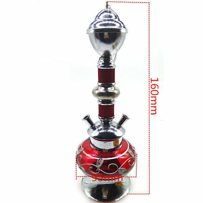 1Set Hookah 2 Hose Glass Pipe Water Vase Tobacco Shisha Nargile Smoking Bong Set