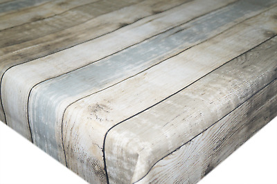 Gouda Wood Floorboards PVC Tablecloth Vinyl Oilcloth Kitchen Dining Table