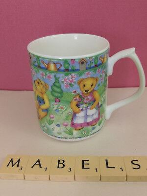 SUTHERLAND ~GARDEN BEARS by VALERIE GREELEY~ bone china mug
