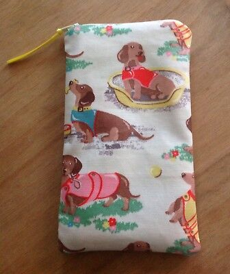Handmade Glasses/Sunglasses Zipped Case in Cath Kidston 'Sausage Dog' Oilcloth
