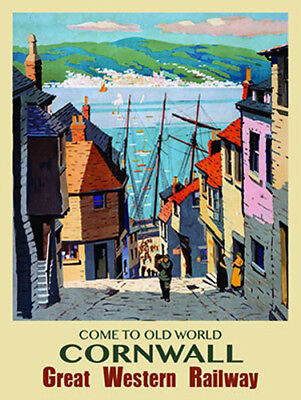 Come to Old World Cornwall, Great Western Railway. Fridge Magnet