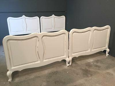 Pair of Vintage single French Beds / Painted French Bed (BR630)