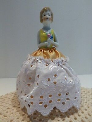 Antique Porcelain China Half Doll Pin Cushion Doll Japan
