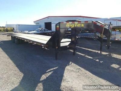"2018 Big Tex Trailer 22GN 35'X102"" HD Hydraulic Tail Flat Bed"