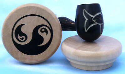 Fly Fish Wood pipe hand Carved smoking Tobacco Lrg Tagua Pot herb grinder WR