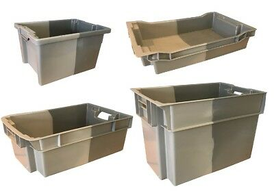 Stack Nest Euro Plastic Storage Boxes Industrial Containers Crates Bins Totes!
