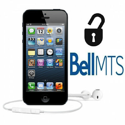 BELL MTS FACTORY UNLOCK SERVICE iPHONE 4 4s 5 5c 5s 6 6s 6+ 6s+ SE 7 7+ 8 8+ X