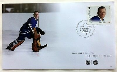 National Hockey League Nhl First Day Covers Goalies Johnny Bower