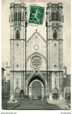 CPA-Carte postale-France -  Chalon sur Saone - Cathédrale Saint Vincent - 1908