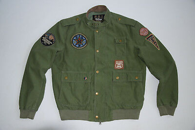 BARBOUR  jacket  MC QUEEN enduro customised flyer RARE XL military GREAT cond.