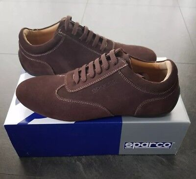 DRIVING Herren RACING DRIVING  Schuhes Trainers Sparco IMOLA Braun Suede EU ... 52cbcd