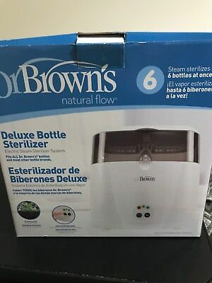 Dr. Brown's Deluxe Bottle Sterilizer - Steam 6 Bottles at Once!! Brand-Used