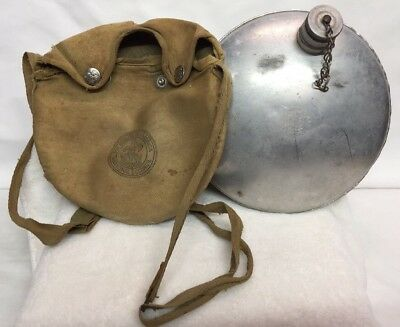 VINTAGE BOY SCOUTS Of AMERICA OFFICIAL  CANTEEN WITH CLOTH COVER STRAPS