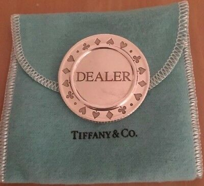 Tiffany And Co Sterling Silver Dealer Button 42 grams