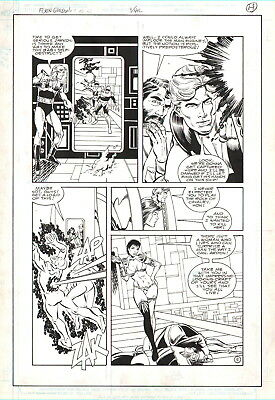 Dan Jurgens/ Bruce Patterson Vintage 1988 Flash Gordon, Dale, Aura-Large Art!