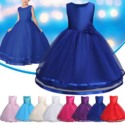 Girls Wedding Bridesmaid Dresses Flower Girl Pageant Gowns Party Prom Princess