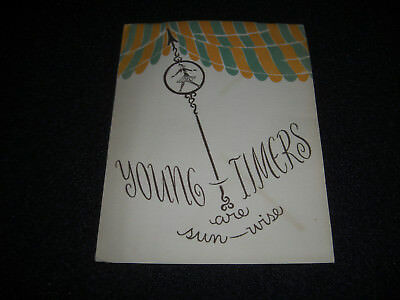 Vintage 1950's Henri Bendel Young Timers Are Sun-Wise Catalog Original 12 pages