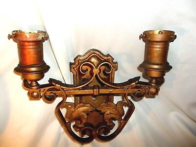 LG ANTIQUE Spanish Revival Wrought Iron Sconce FRENCH Gothic Castle Wall Light