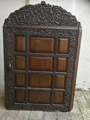 Stunning Anglo-Indian Carved Corner Cabinet