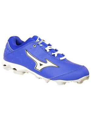 8477c05d32e Mizuno Womens 9 Spike Finch Elite Switch Softball Molded Cleat Royal White 9  M