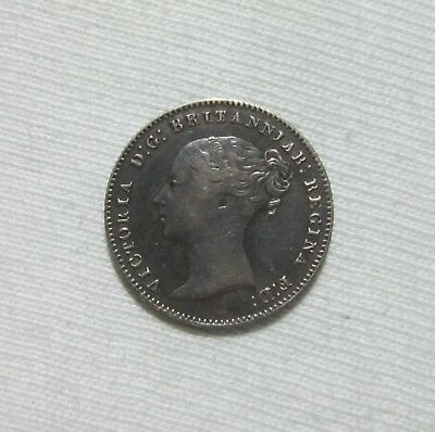 Great Britain. Silver 3 Pence, 1858. Queen Victoria.