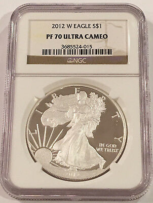 2012 W American Silver Eagle Ngc Pf70 Ultra Cameo (Proof)