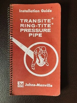 JOHNS MANVILLE TRANSITE PIPE Asbestos Cement Home Plumbing Heating