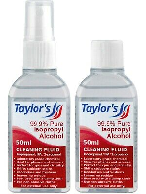 50ml Isopropyl Alcohol (99.9% Isopropanol) IPA Phone Screen Cleaner Cap Or Spray