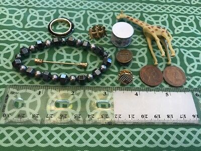 Lot Of 10 Junk Drawer Random Crafting Pieces Coins FREE FIRST CLASS SHIPPING