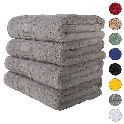 NEW GRAY Color ULTRA SUPER SOFT LUXURY PURE TURKISH 100% COTTON BATH TOWELS