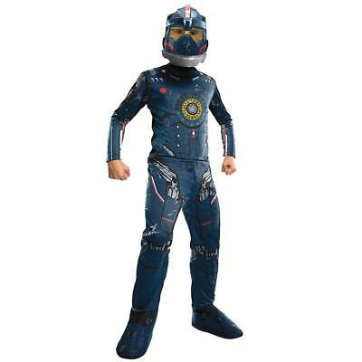 NEW Pacific Rim Gipsy Danger Kids size M 8/10 Costume Mask Outfit Rubie's