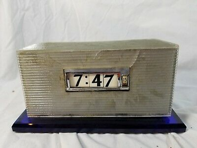 Vintage Lawson Electric Clock Mid Century Modern Rolling Digital Dials ISSUES