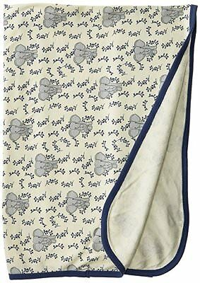 ELEPHANT 100% Organic Cotton Baby Boy Swaddle Blanket by Touched By Nature NEW