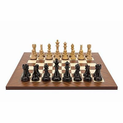 Dal Rossi Dark Red and Boxwood Board and Chessmen