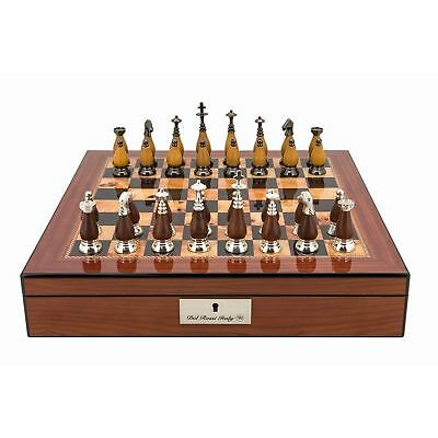 SAVE ON Dal Rossi Staunton Metal Wood Chess Set Box 16 Inch NKT