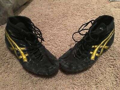 Rare ASICS gold rulon wrestling shoes size 12 (inflicts, ogs, Nike)