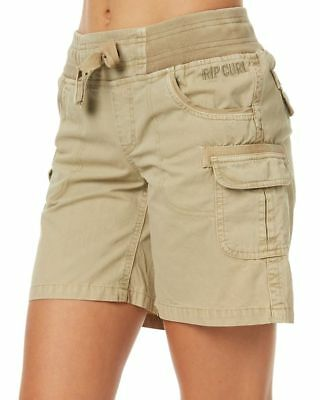 New Rip Curl Women's Almost Famous Ii Womens Short Cotton Canvas Natural