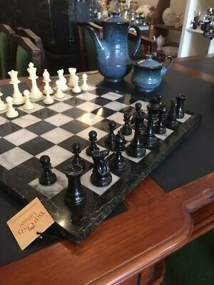 Beautiful Vintage Marble Chess Board