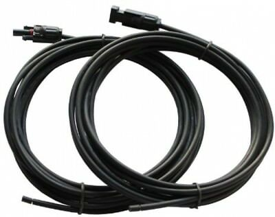 Pair of 5m 4.0mm single core extension cables with MC4 connectors for solar and