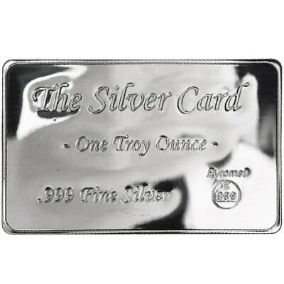 Pyromet 1 oz .999 Silver USA Made Card In Sleeve W/COA - FITS IN YOUR WALLET!