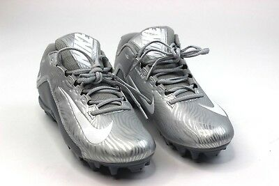 Nike Lacrosse Speedlax SZ 10 Womens Metallic Silver White Turf NEW 807158-010