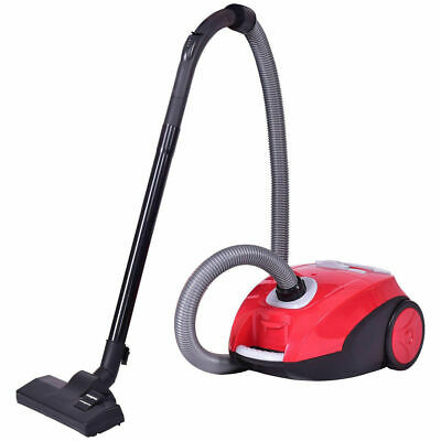 Vacuum Cleaner Canister Bagged Cord Rewind Carpet Hard Floor w/ Washable Filter