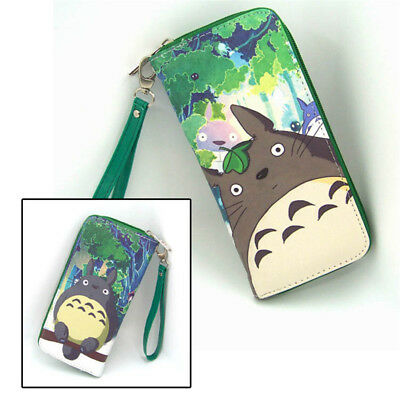Hot Anime My Neighbor Totoro Cosplay PU Leather long Purse Wallet A