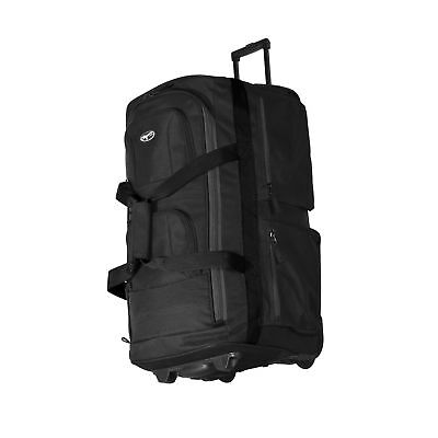 OLYMPIA 29 Inch 8 Pocket Rolling Travel Duffle Luggage Bag in Black ... 035160a229