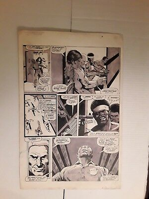 Original Comic Book Art Deadly Hands of Kung Fu  Buscema  Nebres Perez 1975
