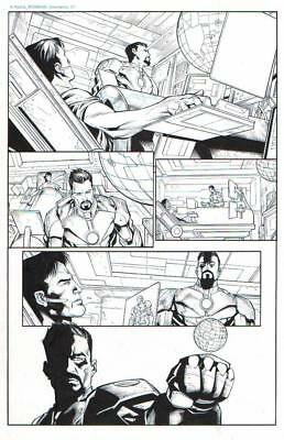 Iron Man, Tony Stark, Arno Stark Original Ink Art-Padilla/ Hanna-2014!