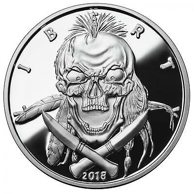 2018 American Western Skulls Series - Indian Brave 1 oz .999 Silver Proof Round