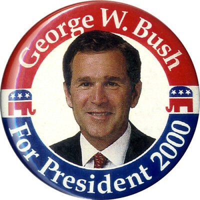 2000 Campaign George W. Bush for President Button (5149)